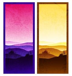 Set of vintage poster vector image