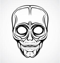 Skull face tattoo design vector