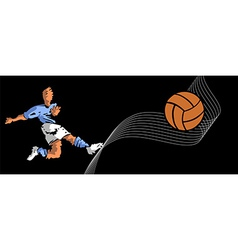 soccer player shooting vector image vector image