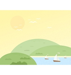 Summer hill vector
