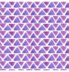 Triangle watercolor pattern purple vector