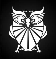 White Owl vector image vector image