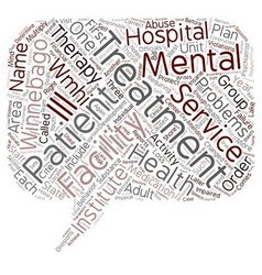 Winnebago mental health institute 1 text vector
