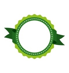 Frame with ribbon isolated icon design vector