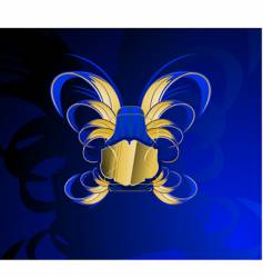 gold and glow blue banner vector image