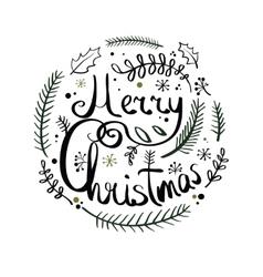 a Christmas wreath vector image