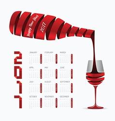 2017 Calendar happy new year design Abstract vector image