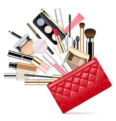 Makeup bag vector