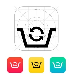 Shopping basket exchange icon vector