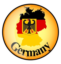 Button germany vector
