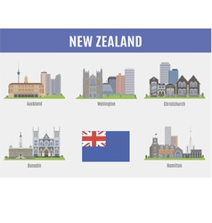 Cities in new zealand vector
