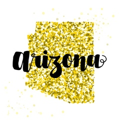 Golden glitter of the state of arizona vector