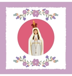 st mary the virgin design vector image