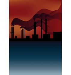 Smoke pollution vector