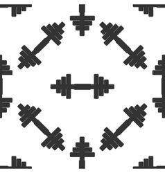 Dumbbell icon pattern vector