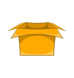 Carton box icon cartoon style vector