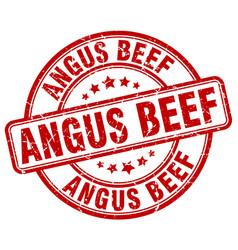 Angus beef red grunge round vintage rubber stamp vector