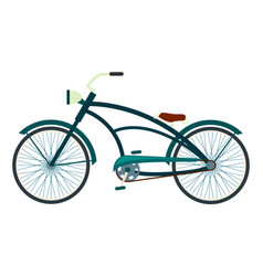 bicycle in flat design vector image vector image