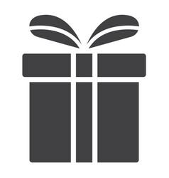 christmas gift box glyph icon new year vector image