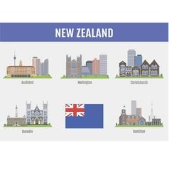 Cities in new zealand vector