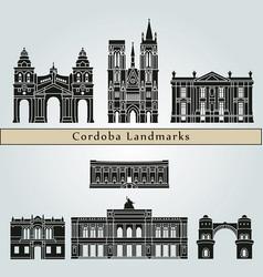 cordoba ar landmarks vector image vector image