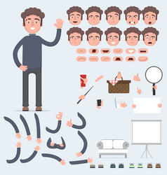 creating a young guy with a lot of different views vector image vector image