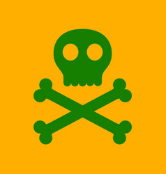 flat icon stylish background halloween skull bones vector image