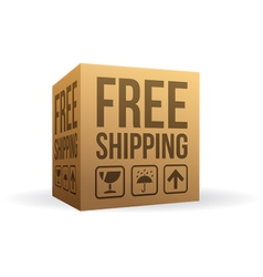 Free shipping box vector