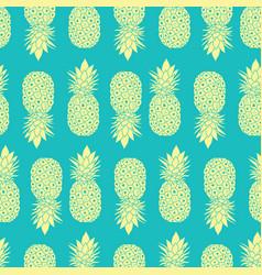 fresh blue yellow pineapples geometric vector image