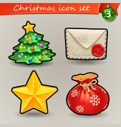 funny christmas icons-3 vector image