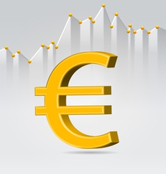 Golden euro sign vector image vector image