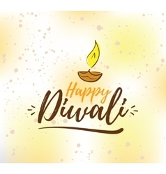 Happy diwali typography vector