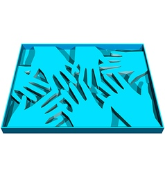 Human abstract hands vector