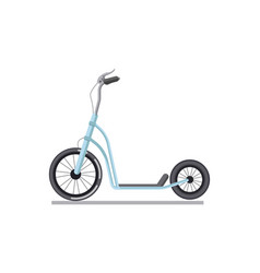 Kick scooter or push bike vehicle isolated vector