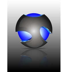Light ball logo vector image vector image