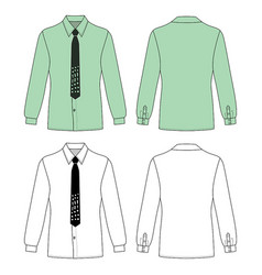 long short sleeved mans buttoned shirt vector image vector image