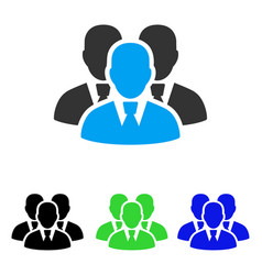 Manager group flat icon vector