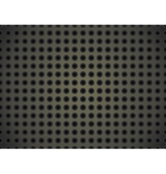 metallic surface with holes vector image