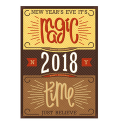 New years magic time vector