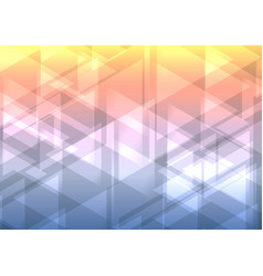 opposite abstract triangle overlap background vector image vector image