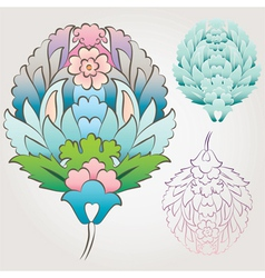 Ottoman Floral Motif vector image vector image