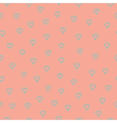 Seamless pattern with blue hearts vector image vector image