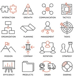 Set of icons related to business management - 1 vector image vector image