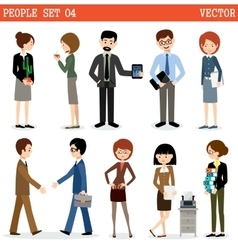 Set of people at office vector