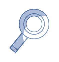 Silhouette magnifying glass to exploration and vector