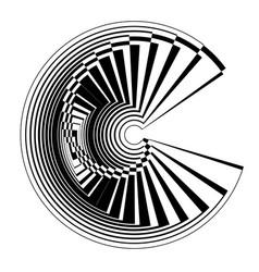 Spiral design element vector