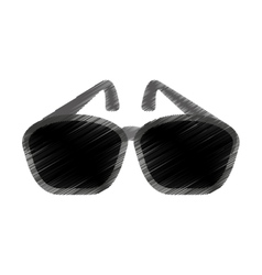 sunglasses accessory isolated icon vector image