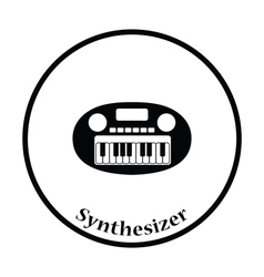Synthesizer toy icon vector