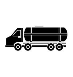 Tank truck icon vector
