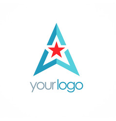 triangle star logo vector image